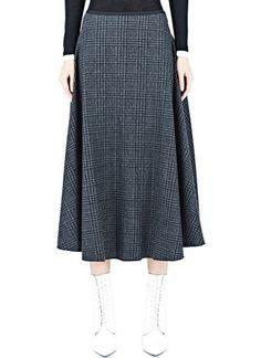 Lanvin Long Tartan Skirt