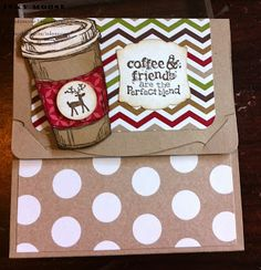 Maree's coffee cup is so cute with the little reindeer! What a fun idea for decorating Perfect Blend.