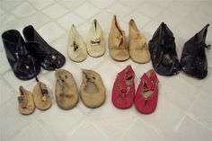 7 Pair of Vintage Oil Cloth Doll Shoes Various Sizes | eBay