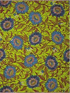 VLISCO Wax Block Batik  Design called Palais des Sentiments