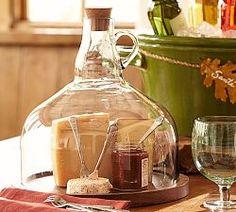 Wine Bottle Cloche | Pottery Barn - would make a lovely terrarium.