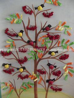 ДЕТСКИЕ ПОДЕЛКИ   VK Fall Arts And Crafts, Autumn Crafts, Spring Crafts, Diy And Crafts, Paper Crafts, Diy For Kids, Crafts For Kids, School Decorations, Preschool Art