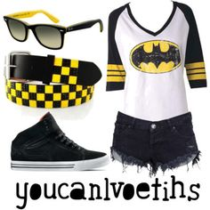 I'd do converse & long black fitted jeans with the destroyed look but still, super awesome.