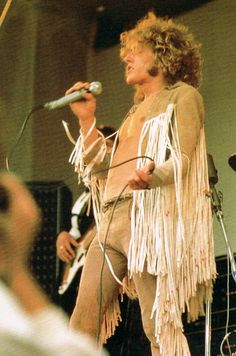 Roger Daltrey at Woodstock, 1969