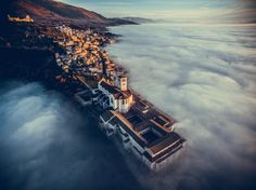 "Dronestagram 2016 International Drone Photography Contest http://www.dronestagr.am/2016-international-drone-photography-contest/ | 1st Prize Winner – Category Travel: Basilica of Saint Francis of Assisi, Umbria, Italy | photo by: ""fcattuto"""
