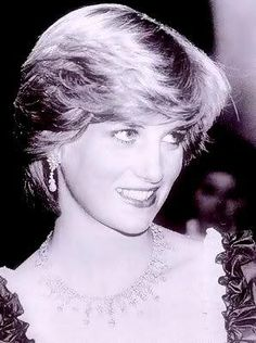 princess diana 1984 photo: Princess Diana Diana-In-Black--White165.jpg