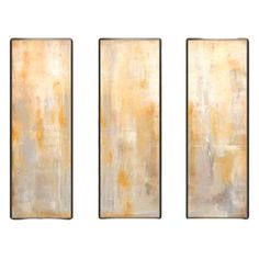 Set of 3 canvas giclee prints with an abstract motif.   Product: TriptychConstruction Material: Canvas and hardwo...