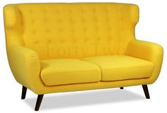 Buy Replica WingBack Designer 2 Seater Sofa in Yellow Online on FortyTwo from just S$559.00 now! Next Day Delivery & 7-day Money Back Guarantee on selected products!