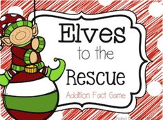 Here's a Christmas-themed game for practicing basic addition facts.