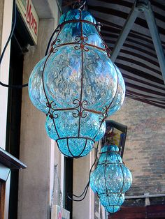 glass lamps - have these in amber. I wonder how they are made? I love them but so fragile now I dont know how to clean them Antique Lamps, Vintage Lamps, Chandeliers, Chandelier Lighting, Moroccan Lanterns, Bright Homes, Candle Lanterns, Cool Lighting, Outdoor Lighting