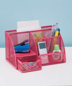 Office Supply Organizer Pink
