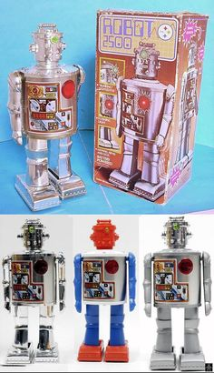Robots - ROBOT 2500 - DURHAM INDUSTRIES - HONG KONG - ALPHADROME ROBOT AND SPACE TOY DATABASE