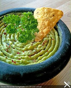 Guacamole – Dip, a nice recipe from the category vegetarian. Ratings: Average: Ø Guacamole – Dip, a nice recipe from the category vegetarian. Ratings: Average: Ø Guacamole Dip, Avocado Dip, Avocado Toast, Fresh Avocado, Healthy Chicken Recipes, Raw Food Recipes, Gourmet Recipes, Mexican Food Recipes, Avocado Dessert