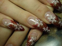 X-Mas Stiletto Nails