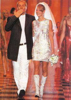 1996 - Gianni Versace & Kate Moss, Atelier Versace final