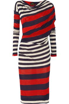 Oh, Vivienne Westwood, I love you.     ~Her Anglomania Toga striped jersey dress ($430, Net-a-porter.com) is sure to spark some fireworks on its own.