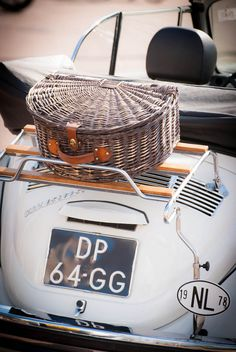 Picnic hamper & convertible. Perfect afternoon.convertible.