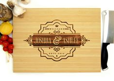 Personalized Cutting Board Wedding Gift Geometric by WoodKRFT Good Engagement Gifts, Personalized Engagement Gifts, Wedding Gifts For Couples, Lesbian Wedding, Personalized Gifts, Engraved Cutting Board, Personalized Cutting Board, Cutting Boards, Traditional Engagement Gifts