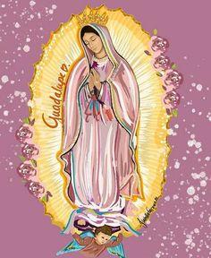 Catholic Art, Religious Art, Virgin Mary Art, Chicano Love, Chalk Pastel Art, Latino Art, Chapelle, Mini Paintings, Sacred Art