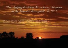 christliche Postkarte 75, Sonne, Sonnenuntergang, Lob, Psalm - Bibel a la Carte - Christliche Karten