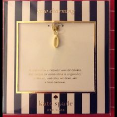 """❗️Kate Spade how charming""""O"""" initial charm NWT From the kate spade """"how charming"""" line, the initial charm """"O"""". Use it for your bracelet, key fob, purse pull, whatever you'd like! 12k gold plated, lobster closure. Price firm :-) (bracelet not included) kate spade Jewelry"""