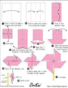 Cata-vento #origami