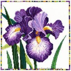 Iris - Garden Flowers Cross Stitch Kit from Bothy Threads