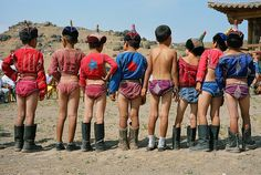 Mongolia - Child Wrestlers
