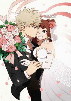 Kacchako wedding for you all 💐💐💐 [Superevey] My Hero Academia Memes, Hero Academia Characters, My Hero Academia Manga, Buko No Hero Academia, Bakugou And Uraraka, Chibi, Syaoran, Boku No Hero Academy, Tom Holland