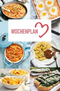 Weekly schedule # Varied recipe ideas for a week. - Wochenplan - Appetizers for party Budget Freezer Meals, Cooking On A Budget, Frugal Meals, Easy Cooking, Easy Meals, Cooking Recipes, Clean Eating Dinner, Clean Eating Recipes, Healthy Juice Recipes