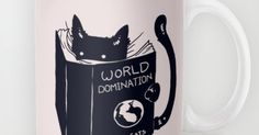 World Domination For Cats Mug   Toilets, Netflix and Slimming world