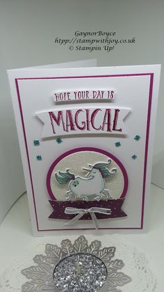 Magical Day Card using Stampin Up! products
