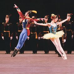 The New York City Ballet performing Balanchine's Stars and Stripes