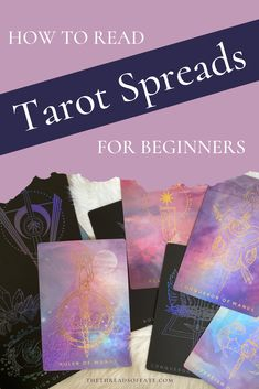 Tarot cards are fascinating!  Check out this blog post to learn how to read tarot spreads for beginners. New Things To Learn, Learn To Read, Tarot Cards For Beginners, Tarot Card Spreads, Tarot Learning, Tarot Card Meanings, Tarot Card Decks, Oracle Cards, Book Of Shadows