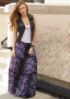 Karlee Floral Maxi Skirt - Skirts - Clothing - Alloy Apparel