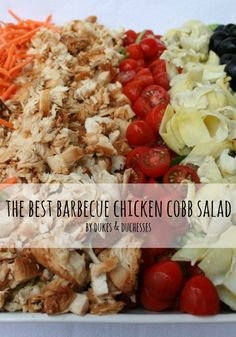 the best barbecue chicken cobb salad {it starts in the crockpot!}