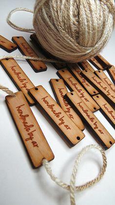 50  .5 x 2 Custom Wood Tags - Custom Knitting Tags - Custom Gift Tags by GrainDEEP