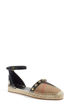 Burberry 'Abbingdon' Ankle Strap Espadrille (Women) available at #Nordstrom