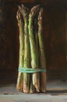 daily painting titled Asparagus - click for enlargement