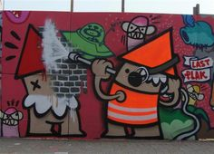 Stencil Graffiti, Graffiti Artwork, Stencil Art, Street Installation, What To Draw, Yarn Bombing, Utrecht, Tag Art, Urban Art