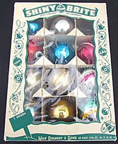 Shiny Brite Glass Christmas Tree Ornaments