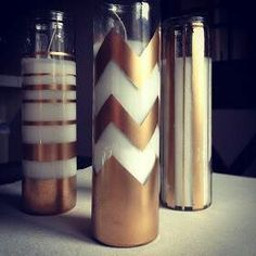 Spray paint candles