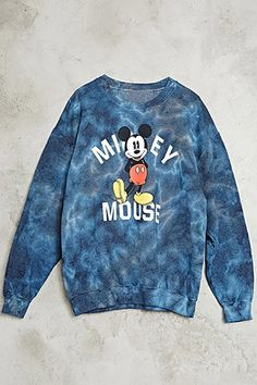Tie Dye Mickey Mouse Pullover