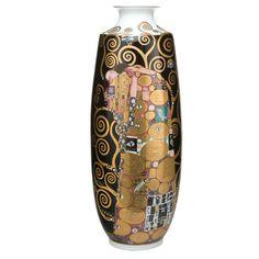 """Vase von Gustav Klimt """"Der Lebensbaum"""" auf Porzellan mit Gold"""