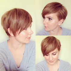 Advice to anyone thinking of cutting their hair off: find a celebrity whose hair you love and copy them. They have stylists who can do lots of fun things with short hair and it will give you ideas as your hair starts to grow and you have no idea how to style or cut it. My faves are Michelle Williams and Jennifer Lawrence. @mamamandolin Instagram