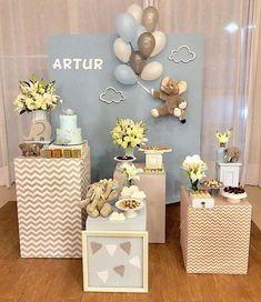the basic facts of baby shower decorations ideas for boys 1 Baby Shower Favors, Shower Party, Baby Shower Games, Baby Shower Parties, Deco Buffet, Teddy Bear Baby Shower, Festa Party, Shower Inspiration, Baby Shower Printables