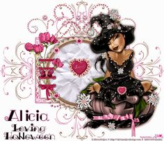 ...::: CT Alicia Mujica :::... Tag realized with the wonderful Tube, *Bimba* of Alicia Mujica; you can find it in your store: ==> http://aliciamujicadesign.com/es/halloween/102-tube-bimba-witch.html The Scrap kit used  is with-love-pimpd09
