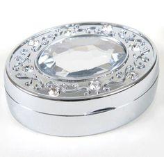 Oval Crystal Pill Box