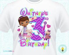 Doc McStuffins Birthday Shirt Personalized by LuvibeeKidsCo