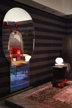 Elle Decor Grand Hotel and the Shimmer mirror by Patricia Urquiola